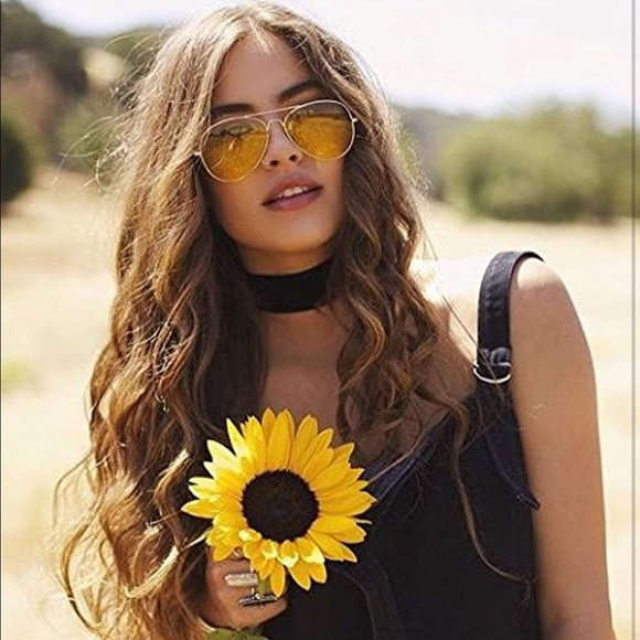 7101d155a7d Yellow. Tinted. Aviator. Sunglasses